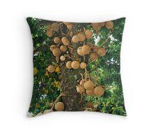 Canon ball tree Throw Pillow