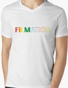 Filmation - Logo - Color Mens V-Neck T-Shirt