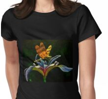 Dragonfly on Mountain Iris  Womens Fitted T-Shirt