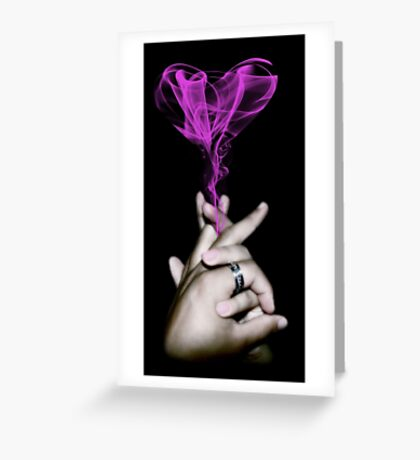 Love Smoke Greeting Card