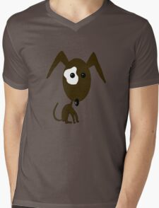 Brown Dog Mens V-Neck T-Shirt