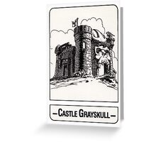 He-Man - Castle Grayskull - Trading Card Design Greeting Card