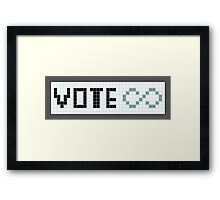 Vote Infinity! Framed Print