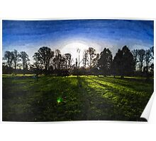 Sunrise in the Park Poster