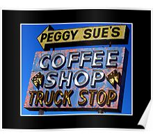 Peggy Sue's Coffee Shop Poster