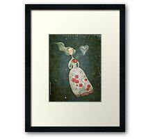 I heart tea Framed Print