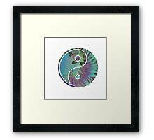 Yin and Yang Ocean Framed Print