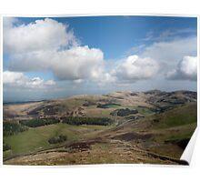 Pentland Hills from the Ridge Poster
