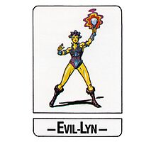 He-Man - Evil-Lyn - Trading Card Design Photographic Print
