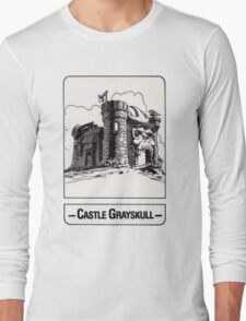 He-Man - Castle Grayskull - Trading Card Design Long Sleeve T-Shirt