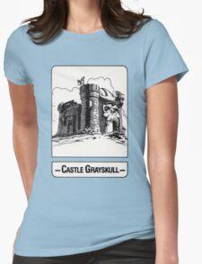 He-Man - Castle Grayskull - Trading Card Design Womens Fitted T-Shirt