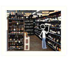 Corky @ the Supermarket Art Print