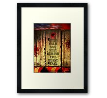 Welcome to the Neighborhood Framed Print