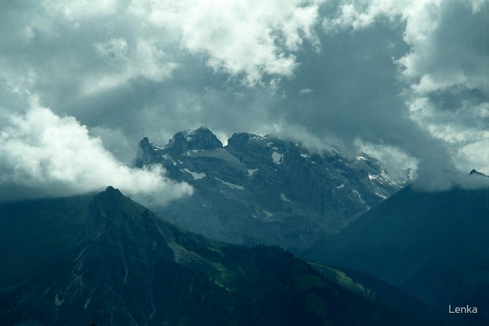 Clouds over Drusenfluh by Lenka