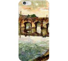 The Bridge, Carmarthen, Wales - all products iPhone Case/Skin