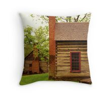 Old Quaker Houses Throw Pillow