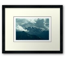 Clouds over Drusenfluh Framed Print