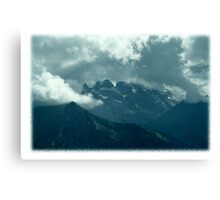 Clouds over Drusenfluh Canvas Print