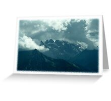 Clouds over Drusenfluh Greeting Card