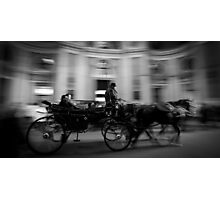 Horse and Carriage in Vienna, Austria Photographic Print