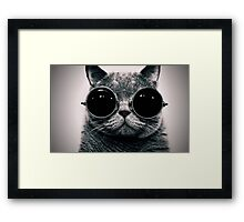 Cat with Glasses Poster ! Framed Print