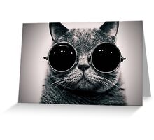 Cat with Glasses Poster ! Greeting Card