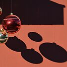 Reflections and shadows of Christmas balls by Arie Koene