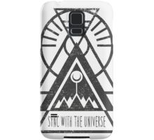 Sync with the Universe - Typography and Geometry Samsung Galaxy Case/Skin