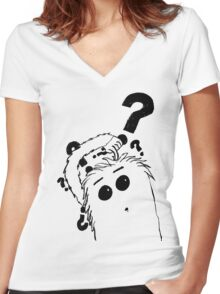 Furry Women's Fitted V-Neck T-Shirt