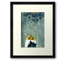 Oh! Raining Night Framed Print