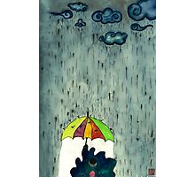 Oh! Raining Night Photographic Print