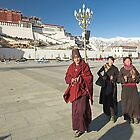 Tibetans, The Potala, Tibet by Hugh Chaffey-Millar