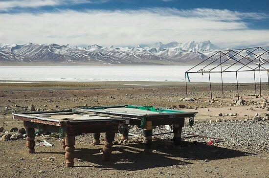 Pool at Lake Nam-Tso, Tibet by Hugh Chaffey-Millar