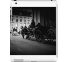 Horse-drawn carriage in Vienna, Austria iPad Case/Skin