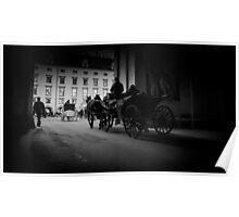 Horse-drawn carriage in Vienna, Austria Poster