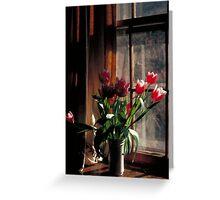 Tulips In Vase Greeting Card