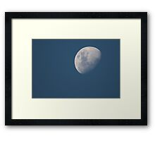 Waxing Gibbous - Dec 31 2014 Framed Print