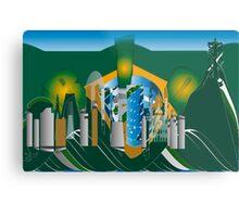 abstract Rio skyline Metal Print