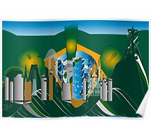 abstract Rio skyline Poster
