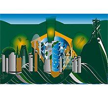 abstract Rio skyline Photographic Print