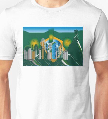 abstract Rio skyline Unisex T-Shirt