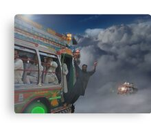 Early Morning Sky Traffic High Above Majestic Peshawar پشاور Canvas Print
