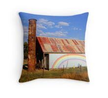 rainbow shed  Throw Pillow