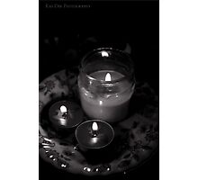 Black and White Candles Print  Photographic Print