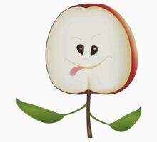 Apple Cut Cartoon by lydiasart