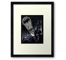 BAT SIGNAL Framed Print