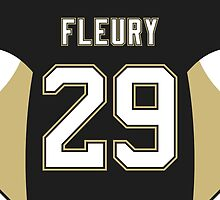 Pittsburgh Penguins Marc-André Fleury Jersey Back Phone Case by Russ Jericho