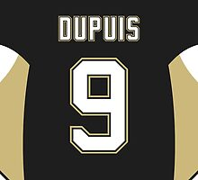Pittsburgh Penguins Pascal Dupuis Jersey Back Phone Case by Russ Jericho
