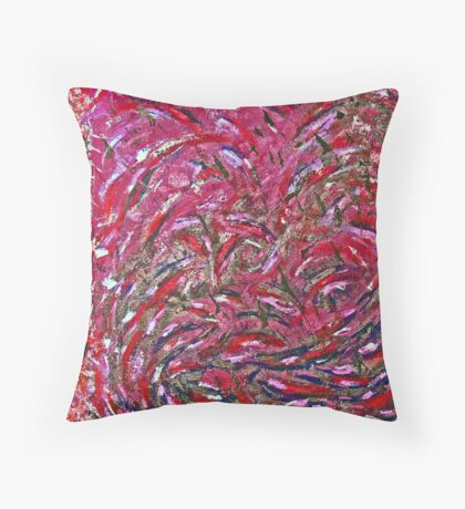 Pink Splash Throw Pillow