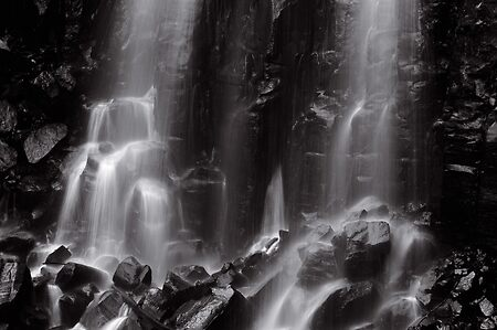 Mungalli Falls in Black & White
